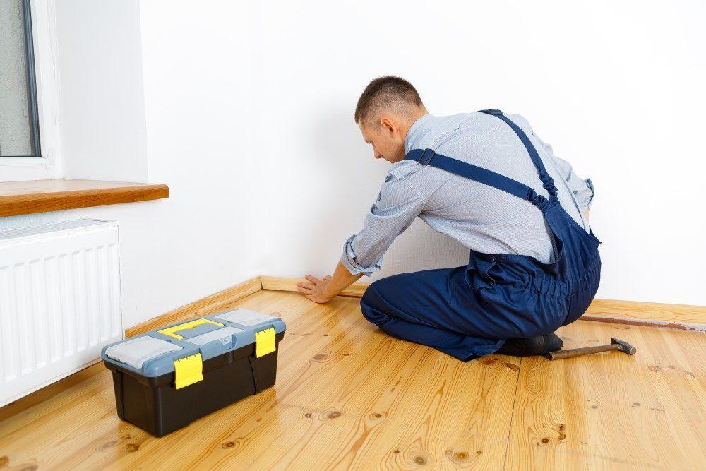 making, repairing and installing new skirting board and flooring